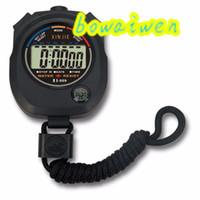 dijital sayaçlar sayaçları toptan satış-Wholesale-bowaiwen # 0057 Su Geçirmez Dijital LCD Kronometre Chronograph Zamanlayıcı Sayaç Spor Alarmı