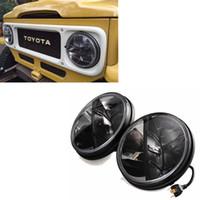 "7"" Round LED Headlights 36w Led headlamp for Land Cruiser FJ40, Jeep CJ & Wrangler - Set of 2"