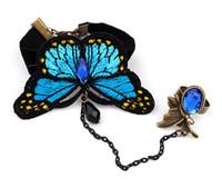 ingrosso braccialetto della farfalla del merletto-braccialetto di fascino gotico del braccialetto di un pezzo dei braccialetti delle donne della farfalla del merletto di modo