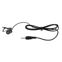 Wholesale Microphone Lavalier - Lavalier Clip Metal Mono Microphone 3.5mm with Collar Clip for Lound Speaker Computer PC Laptop D2029