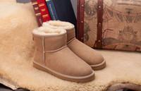 calidad de arranque gratis al por mayor-Envío gratis 2017 de Alta Calidad WGG Mujeres Clásico botas altas botas para mujer Botas de nieve invierno botas bota de cuero