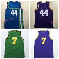 Wholesale Shirts Size 44 - Retro 44 Pistol Pete Maravich Jersey Rev 30 New Material 7 Pete Maravich Shirt Throwback Green Purple Blue Stitched With Name Size S-3XL