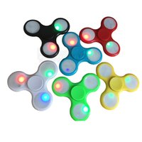Wholesale Light Spinner Toy LED Fidget Spinners Flashing LED Hand Spinner Toy Finger Acrylic Plastic Fidgets Toys Gyro Decompression Anxiety Fingertip