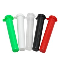 Wholesale roll case - 94MM Tube Doob Vial Waterproof Airtight Smell Proof Odor Sealing Herb Container Storage Case Rolling Paper Tube Pill Box Color Random