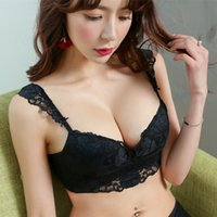 Wholesale Everyday Women Dresses - sexy push up lace woman bra set one-piece seamless small cup intimates wire free young female artistic dress underwear suits