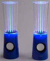 lampe de musique eau achat en gros de-Vente chaude Eau Musique Haut-Parleur 2 in1 USB Mini Haut-Parleur D'eau Coloré Capteur De Goutte D'eau Spectacle avec Lampe LED Lumière Danse Haut-Parleur
