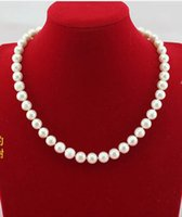 БЕСПЛАТНОЕ SHIPPINGHot NEW 8-9MM White Akoya Cultured Pearl Necklace 18