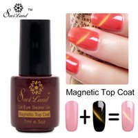 Wholesale Magnetic Magnet Polish - Wholesale-Saviland 1pcs Magnetic Top Coat Cat Eye Gel Nail Polish Long Lasting UV LED Lamp with Hot Sale Magnet Top Coat