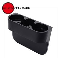 Wholesale Cell Phone Storage Boxes - Wholesale-FULL WERK Car Portable Multifunction Vehicle Cup Cell Phone Drinks Holder Storage Box Seat Side Organizer