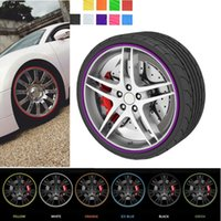 Wholesale Sticker For Tire - 8m Car Styling Tire Tyre Rim Care Protector Hub Wheel Stickers Strip for BMW VW Golf 4 Opel Astra Toyota Mazda CEA_307