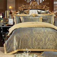 Wholesale white pink sheets black bedding for sale - Group buy SunnyRain Pieces Jaquard Luxury Bedding Set Queen King Size Bed Set Embroidered Duvet Cover Bed Sheet Pillow Case