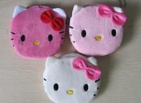 kawaii makyaj çantası toptan satış-Toptan-Seçim Için 3 Renkler - Süper Kawaii 10 CM Hello Kitty lady Coin Çanta Cüzdan Çanta Case ÇANTA; Makyaj Çantası Kılıfı Bayan Çantası