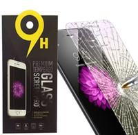 protetores de tela coloridos venda por atacado-Protetor de tela de vidro temperado para iphone X iphone Xs max Xr iphone 7 8 plus Premium Real Film Protector de Tela 2.6mm 2.5D para Samsung