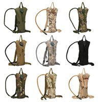 Wholesale Multi Camo Pouch - Outdoor Portable Hydration Packs Camo Tactical Bike Bicycle Camel Water Bladder bag Assault Backpack Camping Hiking Pouch Water Bag