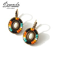 Delicate Bohemian Flower Earrings Clip On The Earrings Atacado Cheap Colorful Resin Beads Earrings For Women Custume Gift