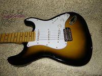 Wholesale Oem Body Parts - New Arrival Sunburst Electric Guitar Golden Parts High Quality Guitars OEM Available