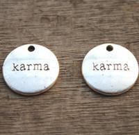 Wholesale Wholesale Karma Jewelry - 15pcs--Karma Charm,Antique Tibetan Silver karma Pendants Charms, DIY Supplies, Jewelry Making,19mm