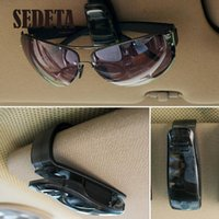 Vente en gros - Hot Black Car Vehicle Visor Lunettes de soleil Lunettes Clip Eyeglass Pen Ticket Card Clip Holder accessories