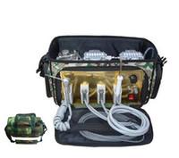 Wholesale Dental Portable Units - BD-401 Convenient Portable Dental Unit with Air Compressor Suction System 3 Way Syringe 4H