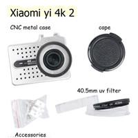 Wholesale Filter Case Hard - Wholesale- For xiaomi Yi 2 4k Protective CNC Aluminum Action Camera Frame metal Housing Case +Lens Cap +UV Filter for xiaoyi 2 II 4K
