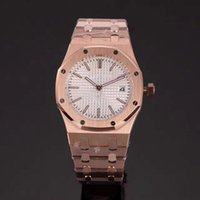 Wholesale Ladies Rose Gold Chronograph Watch - Top AAA Luxury Brand watches women blue dial Stainless steel Royal Oak rose gold lady Watches quartz movement watch women WristWatch