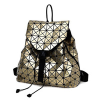 Wholesale Sequin Fold - Wholesale- F Women Backpack 2017 BaoBao backpack female Fashion Girl Daily backpack Geometry Package Sequins Folding Bags 7 color DF411
