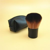 Wholesale kabuki blusher brush resale online - Hot selling New182 Rouge Kabuki Blusher Blush Brush Makeup Foundation Face Powder Make Up Brushes Set Cosmetic Tools Kit with M Brand Name