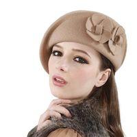 Wholesale Wool Felt Fascinator - Wholesale-Womens Dress Fascinator Wool Felt Pillbox Hat Base Party Wedding Bow Veil Craft Felt French Beret Beanie Felt Pillbox Hat Oc31