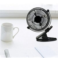 Wholesale- Portable Computer Fan2 Gear Rocker Switch Mini Desk Fan Clip-on Quiet Flexible Table Fan USB Powered Cooling para PC Laptop