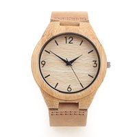 Wholesale Miyota Watches - Wood Watch With Leather Band Japanese Miyota 2035 Quartz Movement Round Dial Analog Unisex Wooden Watches 3 Colors With Christmas Gift Box