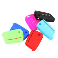 Wholesale Vw Silicone Case - Car Accessories Key Case Bag Cover For Volkswagen  VW Golf 7 mk7  Skoda Octavia A7 Silicone Key Protect Case AUP_40Z