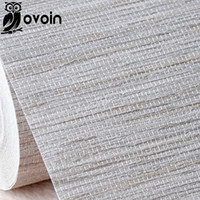 Wholesale Modern Rustic Embossed Textured Wallpaper Horizontal Faux Grasscloth Vinyl Wall Paper Classic Vintage WallCovering Grey Beige
