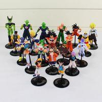 Wholesale Goku Action Toy - Dragon Ball Roshi Neru Vegeta Goku Trunks Piccolo Freeza PVC Action Figure Model Toys 20pcs set