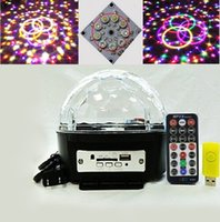 Wholesale 512 mp3 resale online - 9 Color MP3 DMX magic ball music speakers KTV bar party stage lighting LED crystal ball lights Olympic rings Circles