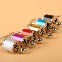 Wholesale Metal Gearbox - New 1pc Metal Mini Auto Car 6-Speed Gearshift Shift Gearbox Keyring Keychain wholesale keychain lamp