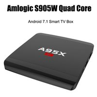 tv için hdmi medya çalar toptan satış-S905W A95X R1 Dört çekirdekli Android Android 7.1 1GB 8GB Akıllı TV Kutusu HDMI 2.0 4Kx2K HD 2.4G Wifi Streaming Ortam Oynatıcıları VS X96 Mini