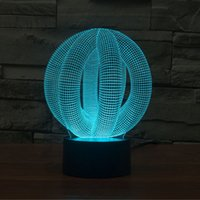 Unico Amazing Three-Dimensional Tubular Spherical Space Effetto di illuminazione colorata effetto Touch Art Scultura Decorazione Lampada da tavolo NightLight