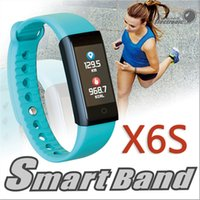 Wholesale Remote Alert - X6S Smart Bracelet Band Dynamic Heart Rate Monitor Colorful LED Screen Smartwatch Health Sport Activity Tracker Call Alerts Wristband