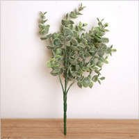 Wholesale Holly Flower - Artificial plastic holly leaves greenery bouquet silk flower for wedding centerpieces bridal bouquet home party holiday decoration 15434