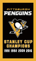 Wholesale Pittsburgh Penguins flag ftx5ft Banner STANLEY CUP CHAMPIONS D Polyester Flag metal Grommets digital print