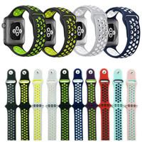 silikonkautschukarmbandbänder großhandel-42mm 38mm S L Größe billiges Gummi Silikon Buntes Armband für Apple Watch 44mm 40mm Strap Sport Armband für Apple Iwatch Serie 4 21