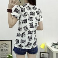 Wholesale Moda Casual Mujer - Wholesale- 2016 hot sale tee shirt for women short sleeve casual animal print moda female poleras mujer vetement famme loose t-shirts