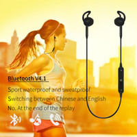 Wholesale Headphone Sport Fashion - Fashion S6 Wireless Bluetooth Headphone Stereo Cellphone In-ear Headset with Microphone Outdoor Sport Running for Iphone 7 7plue Samsung s8