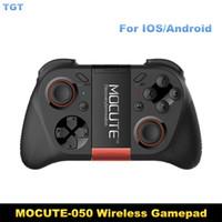 nuevo controlador de juegos para pc al por mayor-Nueva llegada MOCUTE-050 Gamepad Bluetooth Game Gaming Joystick Controller obturador de control remoto para IOSAndriod Smart Phone TV BOX PC