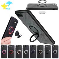 Wholesale Drives Case Iphone - 2017 TPU case with phone holder Metal Ring Soft Case with car Magnetic Driving phone holder back cover for iphone samsung S8