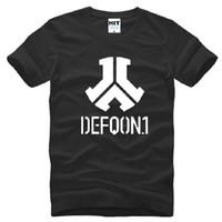erkekler rulo şort toptan satış-Yeni Tasarımcı Defqon 1 T Shirt Erkekler Pamuk Kısa Kollu Kaya Ve Rulo Bant erkek T-Shirt Yaz Tarzı Erkek Müzik Hip Hop Üst Tee