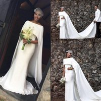 Wholesale Mermaid Style Flower Girls Dress - African Black Girls Evening Dresses With Jacket Warps Bateau Arabic Mermaid Prom Dress Long Zipper Back Vestidos Bridal Gowns Dubai Style
