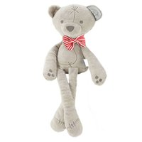 Wholesale Large Bear Stuffed Animal - Wholesale- Baby Toys Cute Soft Stuffed Plush Animal Bowknot Bear 35cm Large Toy Baby Girl Boy Appease Toys -- BYC074 PT49