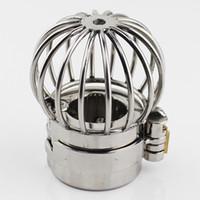 saflık topu kilitleri toptan satış-YENI Stealth Kilit Tasarım Skrotum Kolye Paslanmaz Çelik Bilyalı Sedyeler Horoz Halka Kilitleme Erkek Iffet Seks Oyuncakları