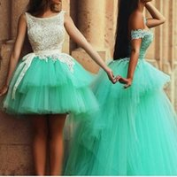 Wholesale Mini Quinceanera Dresses - 2017 Mini Crew Ball Gown Quinceanera Dresses Appliques Sexy Backless Layers Debutante Gowns With Bow